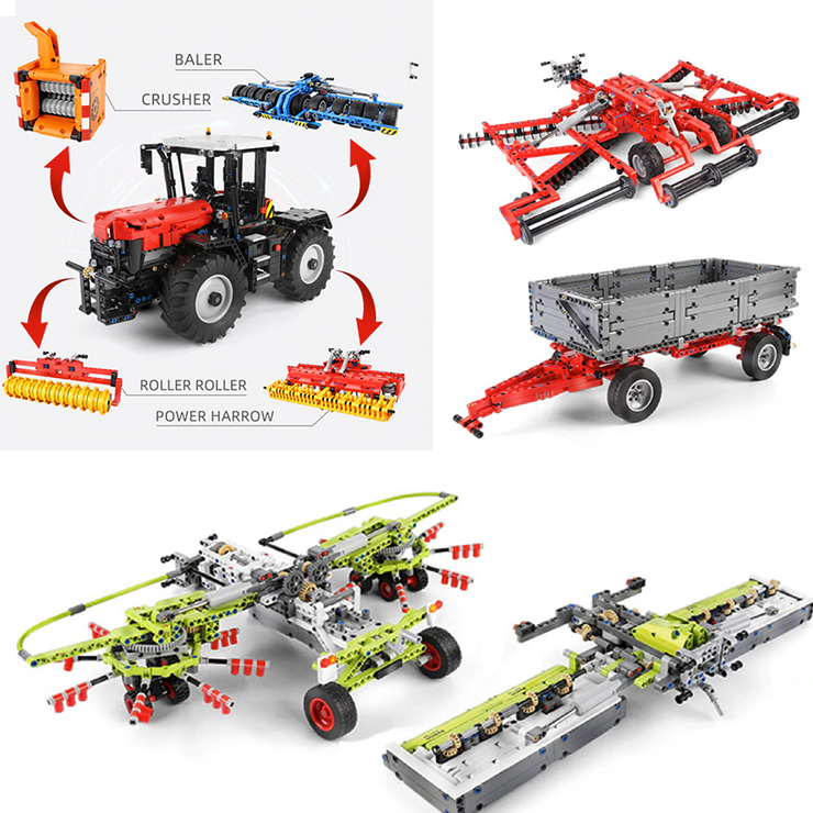 Remote Controlled Tractor 2716pcs