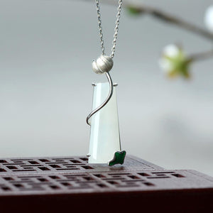 Natural Jade lotus Necklace