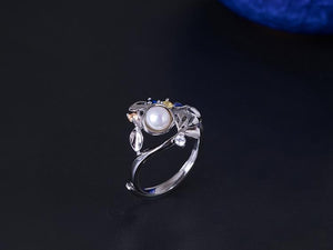 Vintage Pearl Branch Adjustable Ring