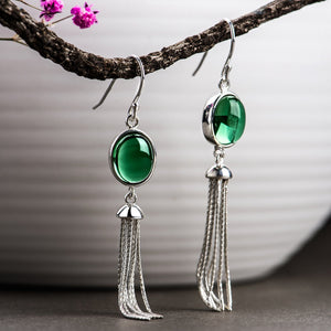 Exquisite Long Tassel Drop Earrings