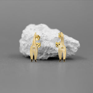 Naughty Cat Stud Earrings