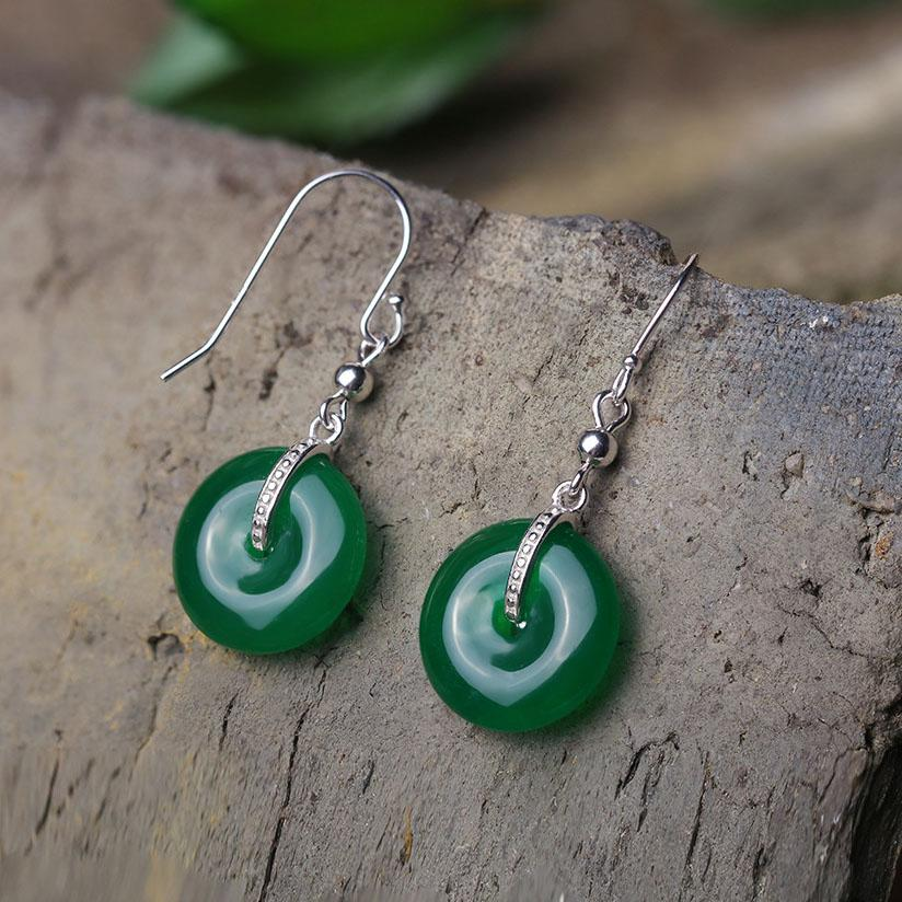 Safe and Well Wishes Jade Earrings