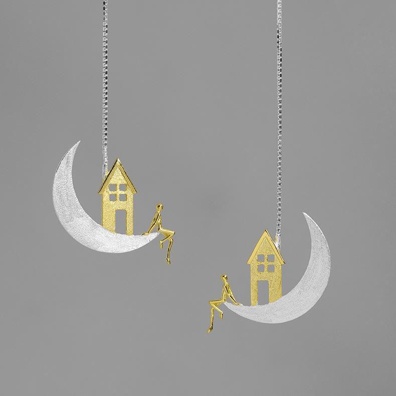 Home On The Moon Drop Earrings