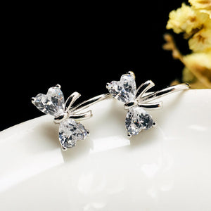 Non-piercing Sweet Bowknot Clip Earrings