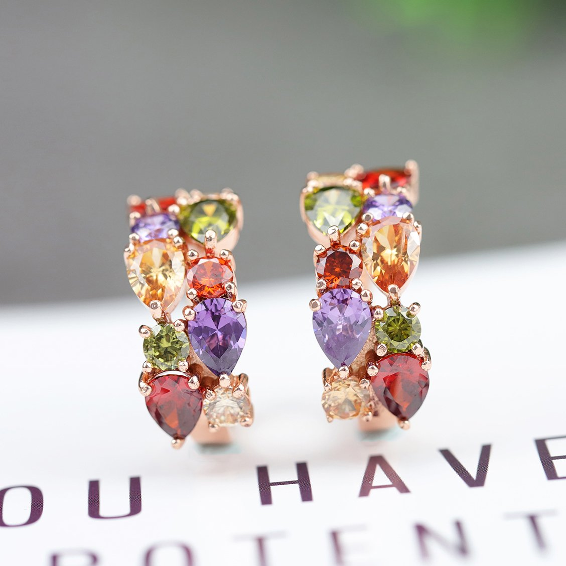 Stunning Multicolor Silver Earrings