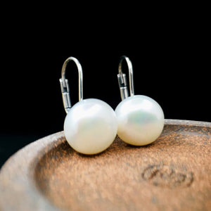 Natural Freshwater Silver Earrings