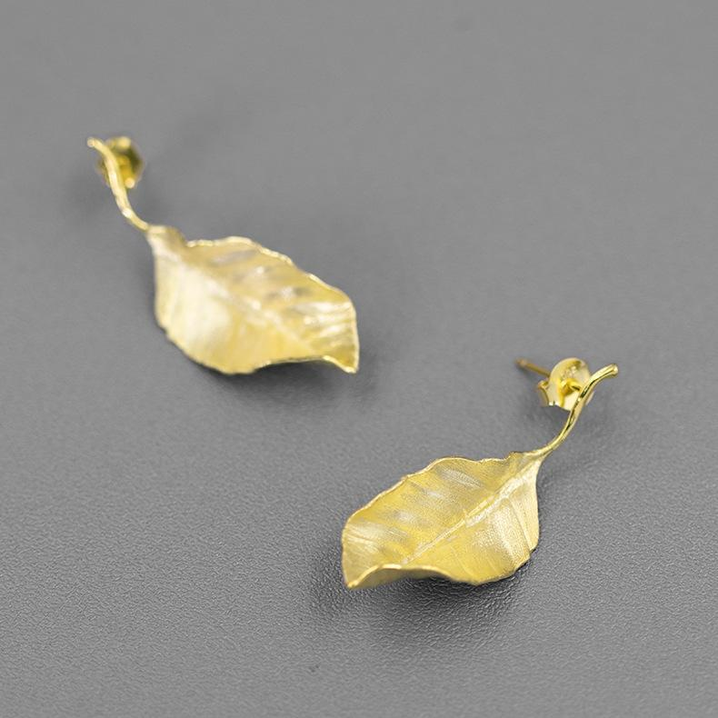 French Style Autumn Leaves Earrings
