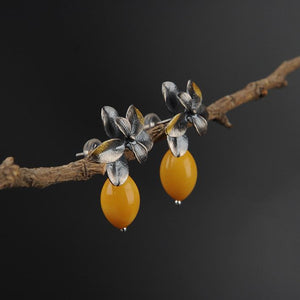 Vintage Natural Beeswax Earrings