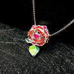 Kiss Rose Silver Necklace
