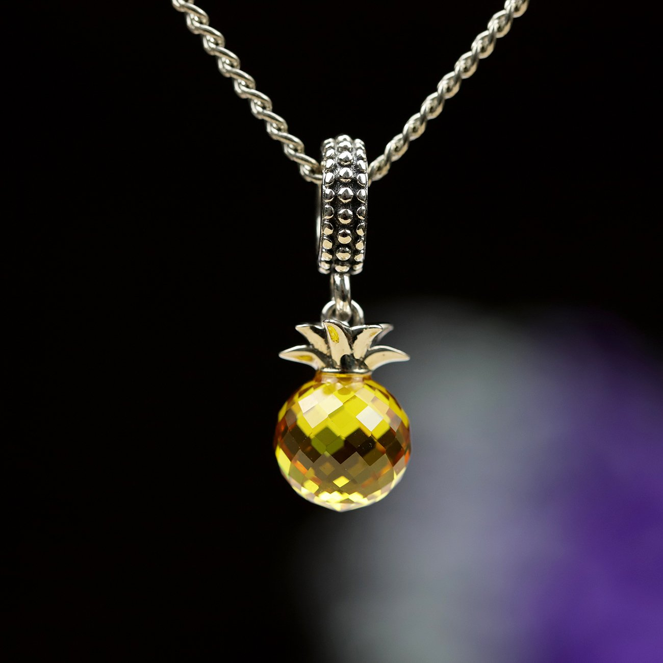 Stunning Pineapple Pendant with Chain