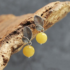 Sweet Natural Beewax Earrings