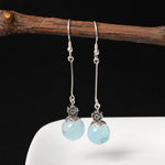 Silver Favorite Crystal Drop Earrings