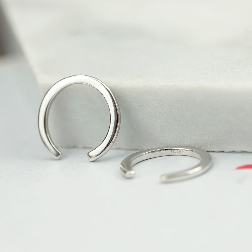 Non-piercing Chic Silver Clip Earrings