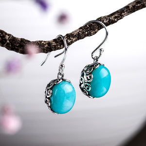Natural Amazonite Drop Earrrings