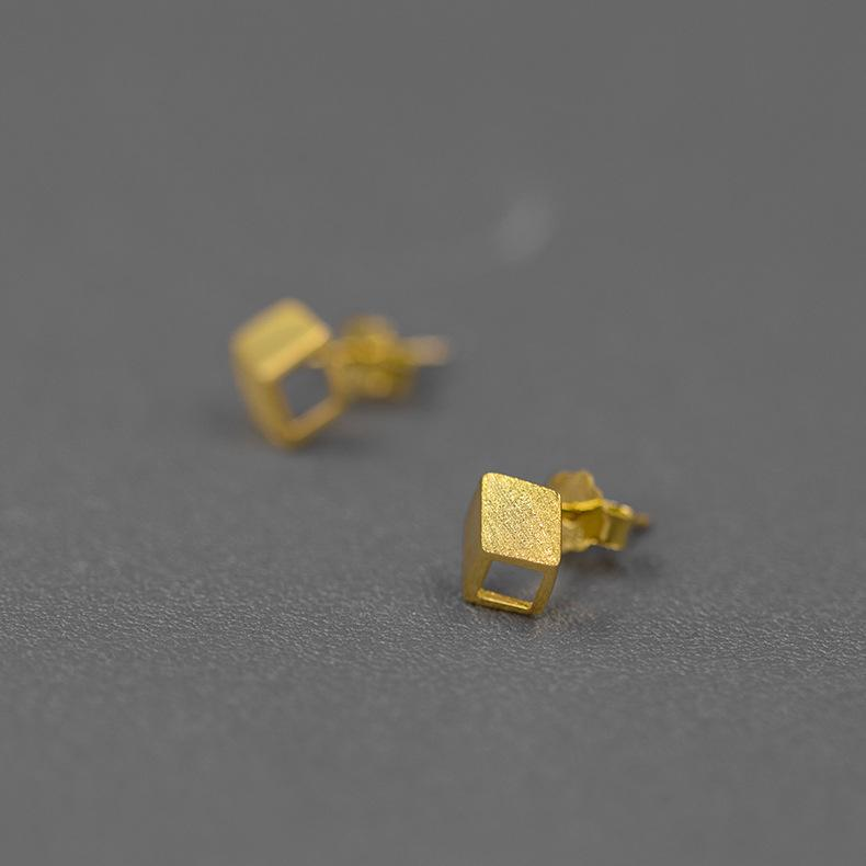 Creative Mini Rubik's Cube Stud Earrings