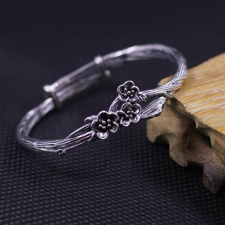 Classic Handmade Plum Flower Bangle