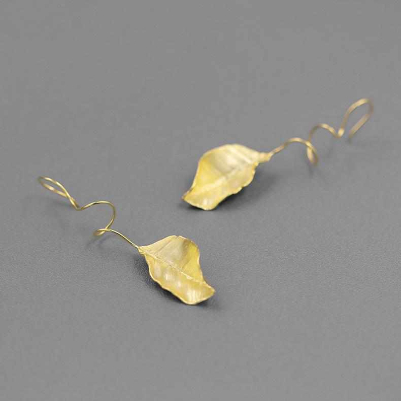 French Style Autumn Leaves Drop Earrings