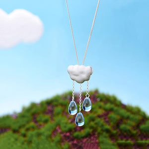 Cloud Long Tassel Pendant