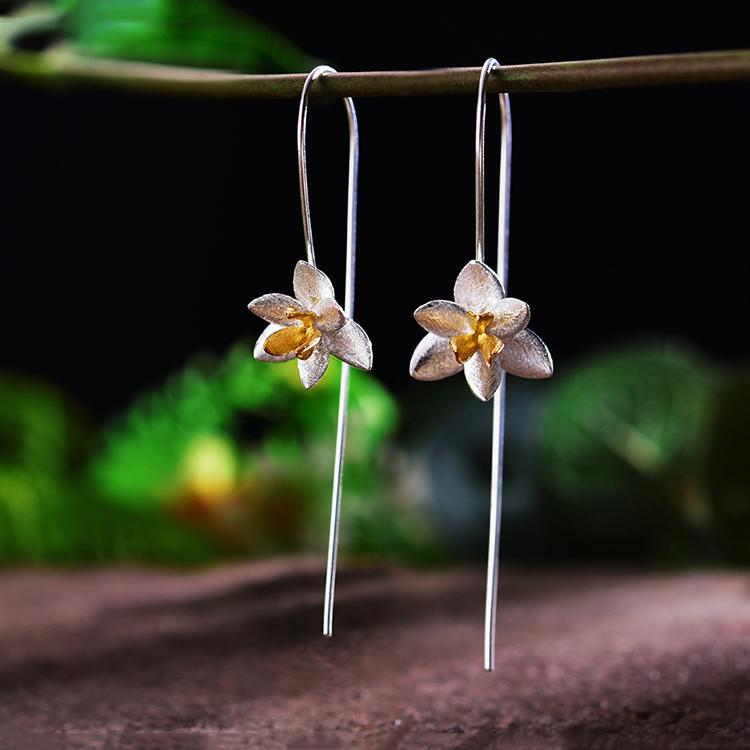Cute Blooming Flower Fashion Drop Earrings