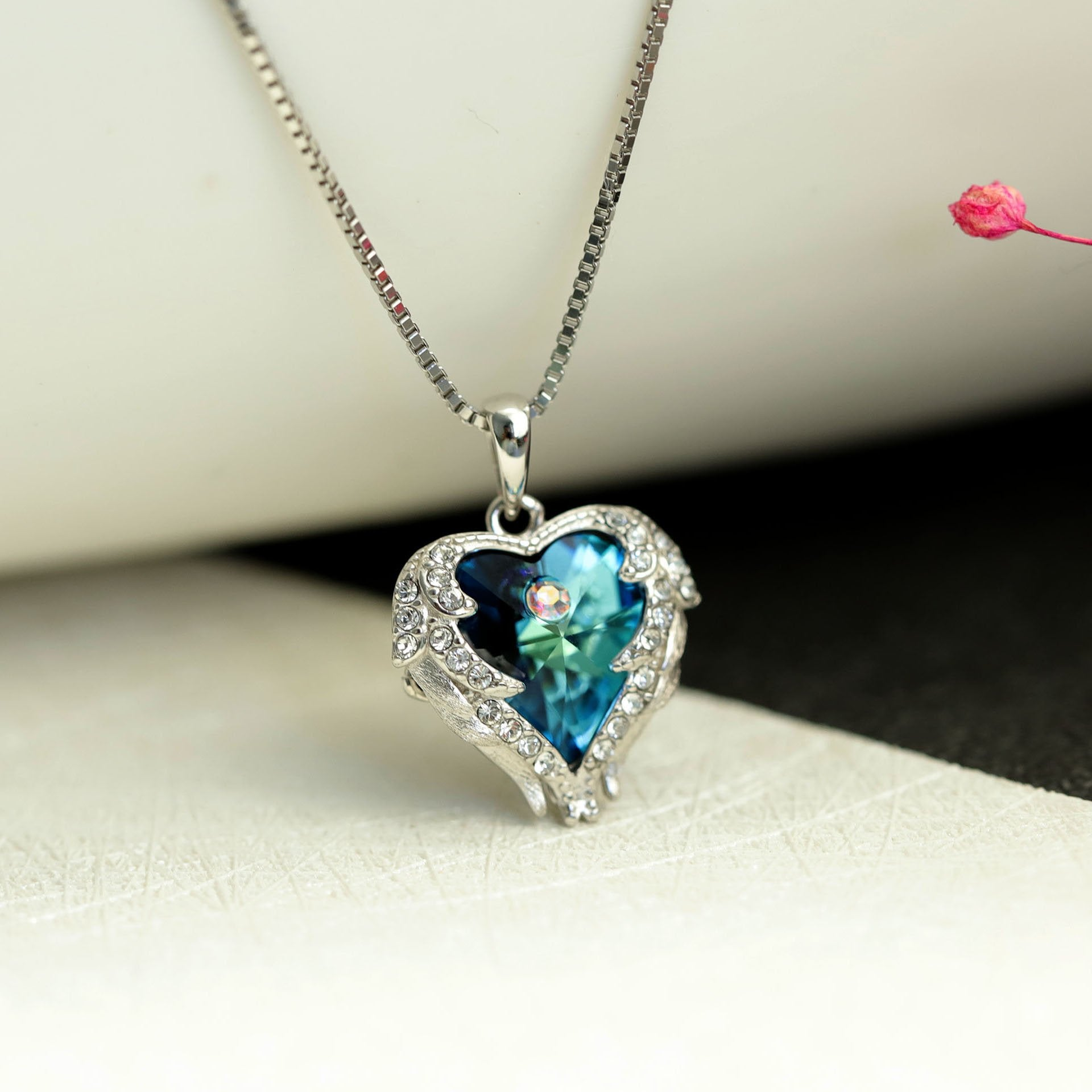 Heart of Ocean Crystal Necklace