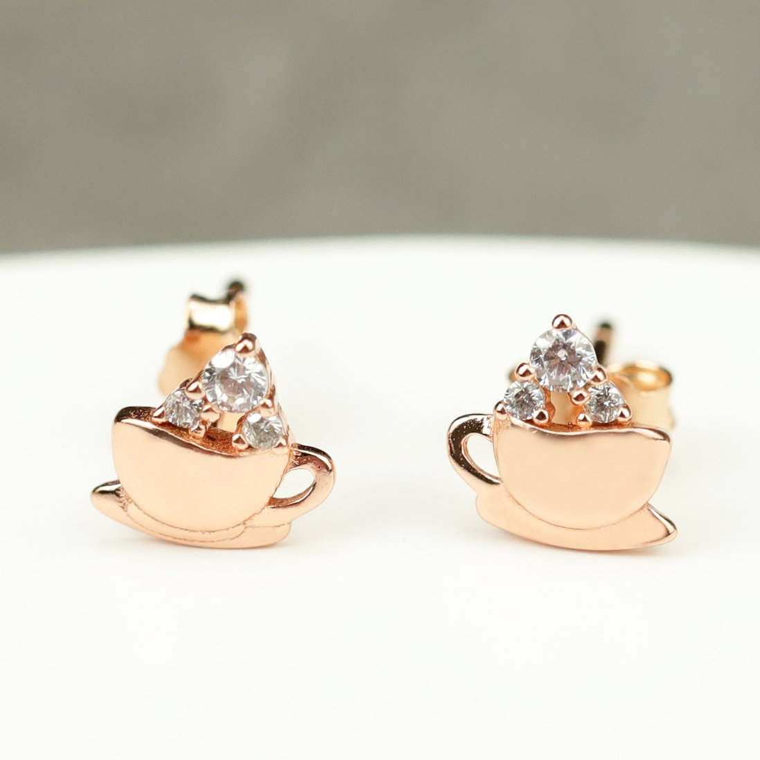 Afternoon Coffee Stud Earrings