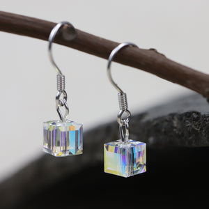 Shining Diamond Drop Earrings