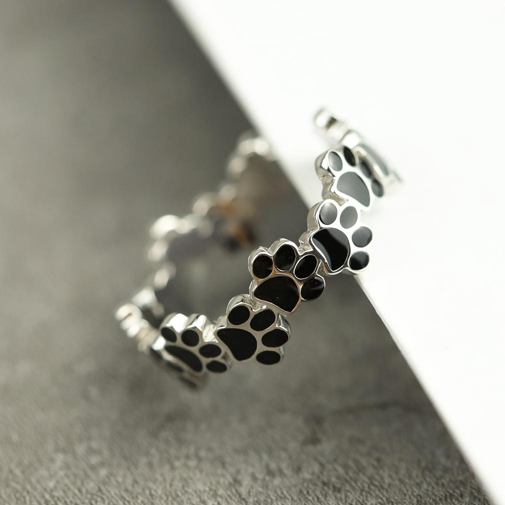 Lovely Paw Footprint Open Ring