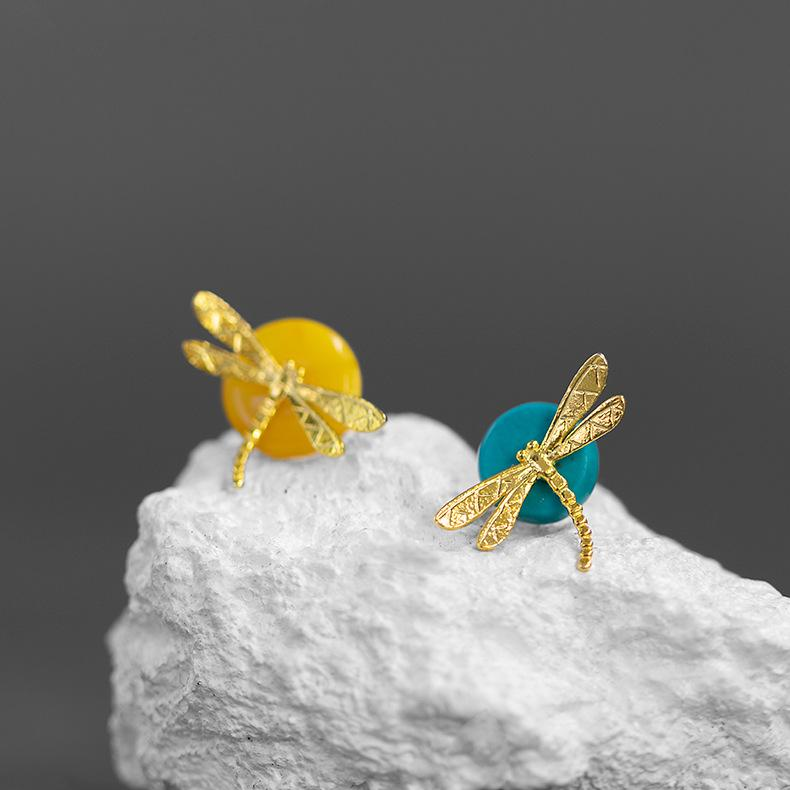 Pretty Dragonfly Stud Earrings