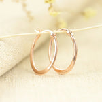 Pretty Rose Gold Loop Earrings