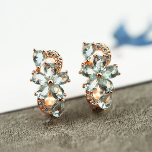 Stunning Flower Diamond Earrings