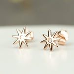 Chic Rose Gold Star Stud Earrings