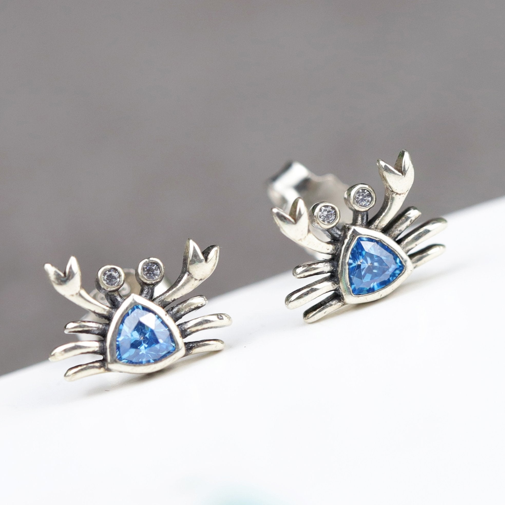 Unique Crab Stud Earrings