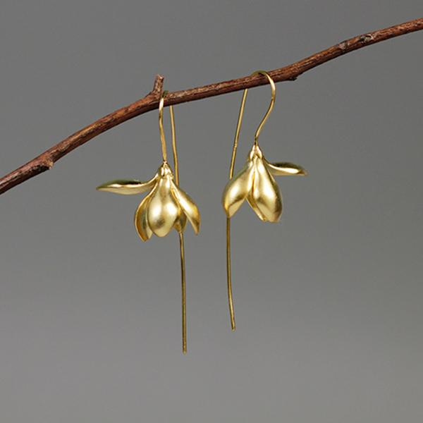 Gorgeous Flower Drop Earrings