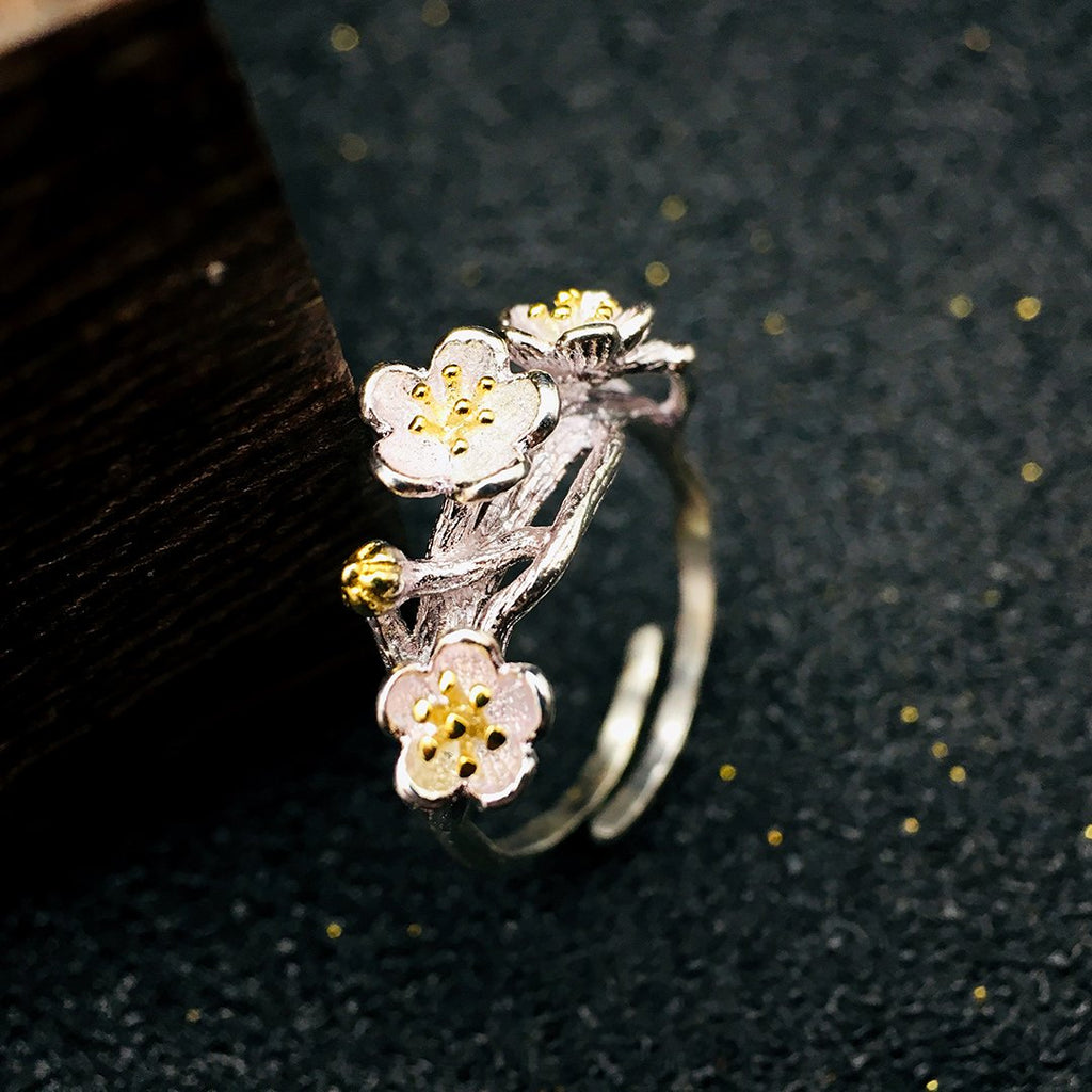 Silver Favorite Blossom Ring