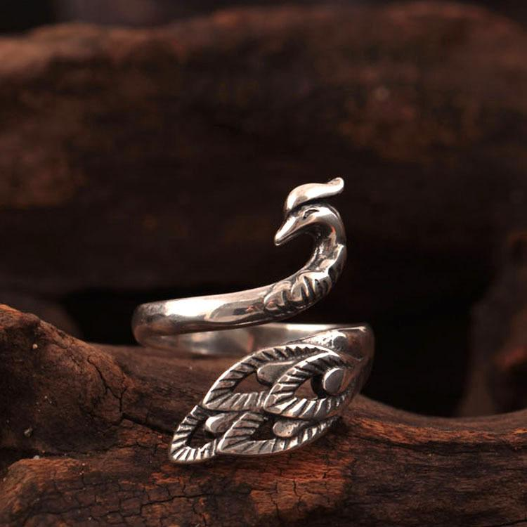 Silver Favorite Peacock Ring