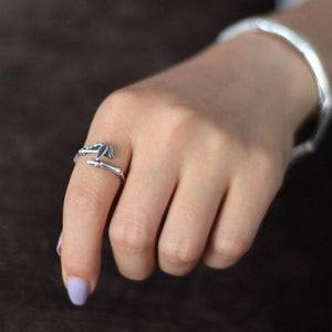 Silver Favorite Bamboo Open Ring