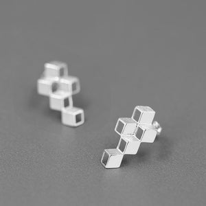 Creative Rubik's Cube Stud Earrings