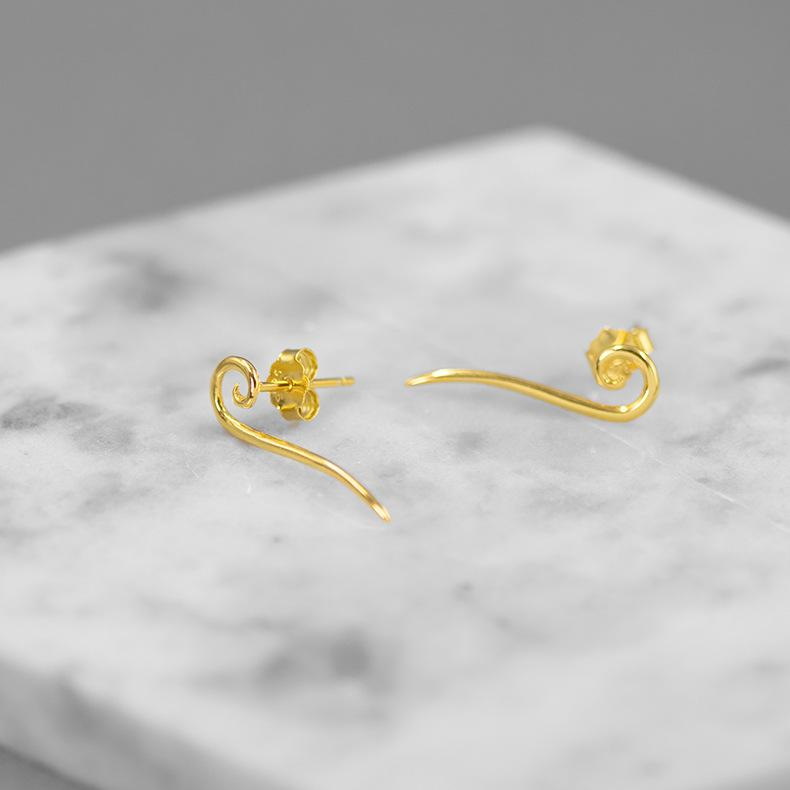 Simplicity and Abstract Stud Earrings