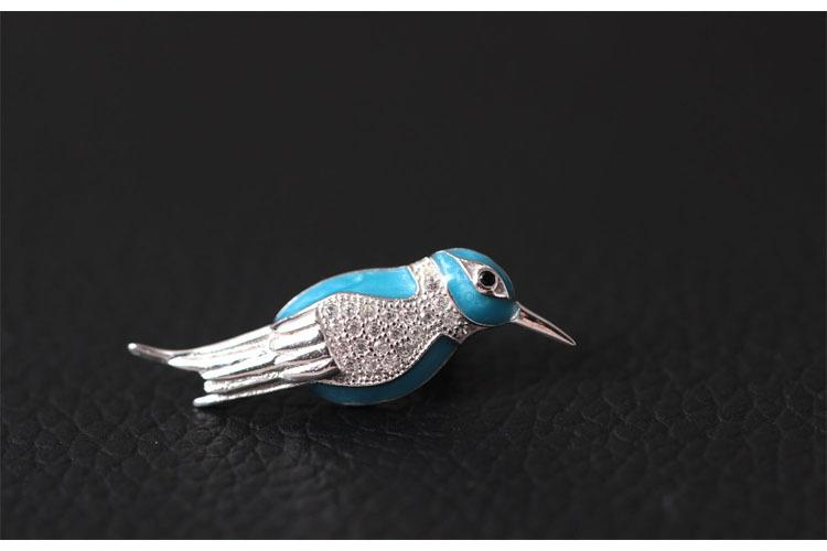 Funny Bird Cufflink and Brooch