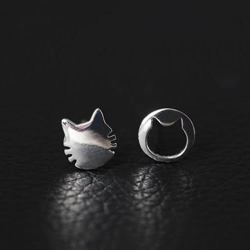 Irregular Cat Stud Earrings