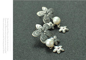 Fashion Flower Pearl Earrings