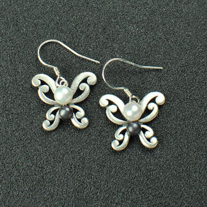 Butterfly Natural Pearl Earrings