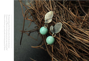Vintage Natural Turquoise Earrings