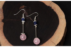 Silver Favorite Natural Stone Earrings