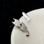 Little Cat and Fish Stud Earrings