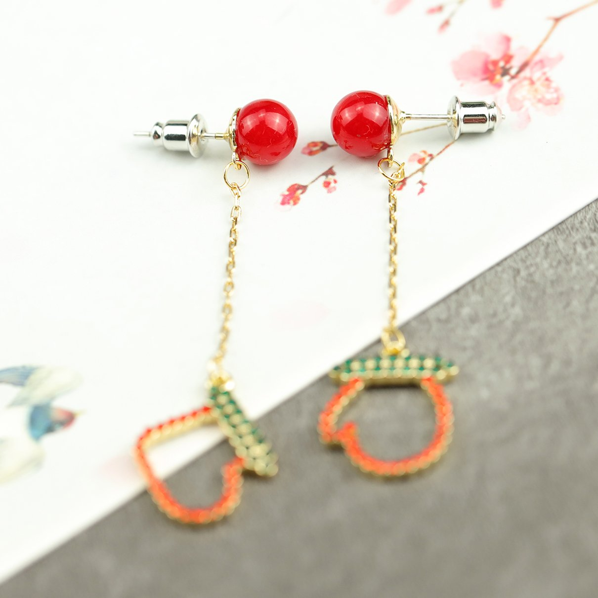 Christmas Sock and Glove Earrings