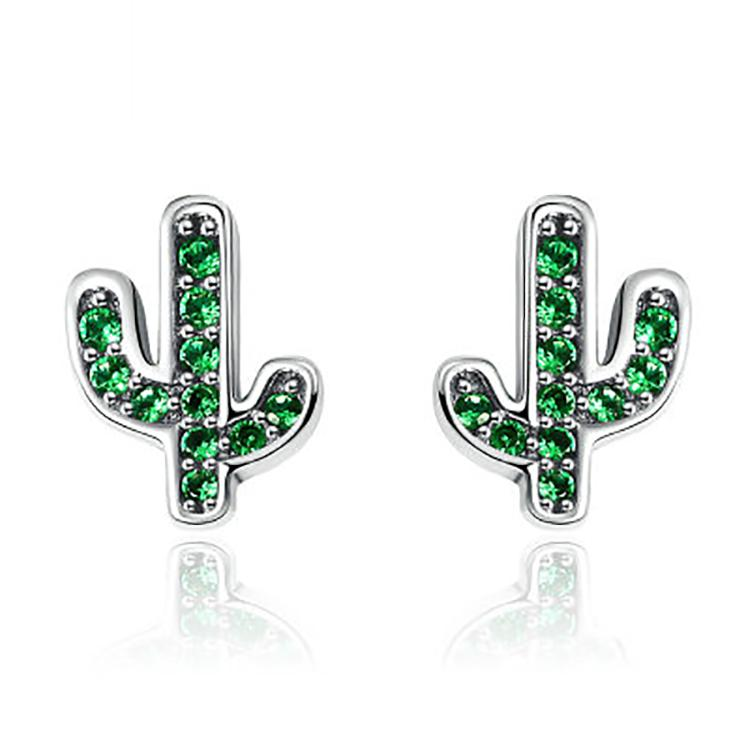 Chic Cactus Stud Earrings