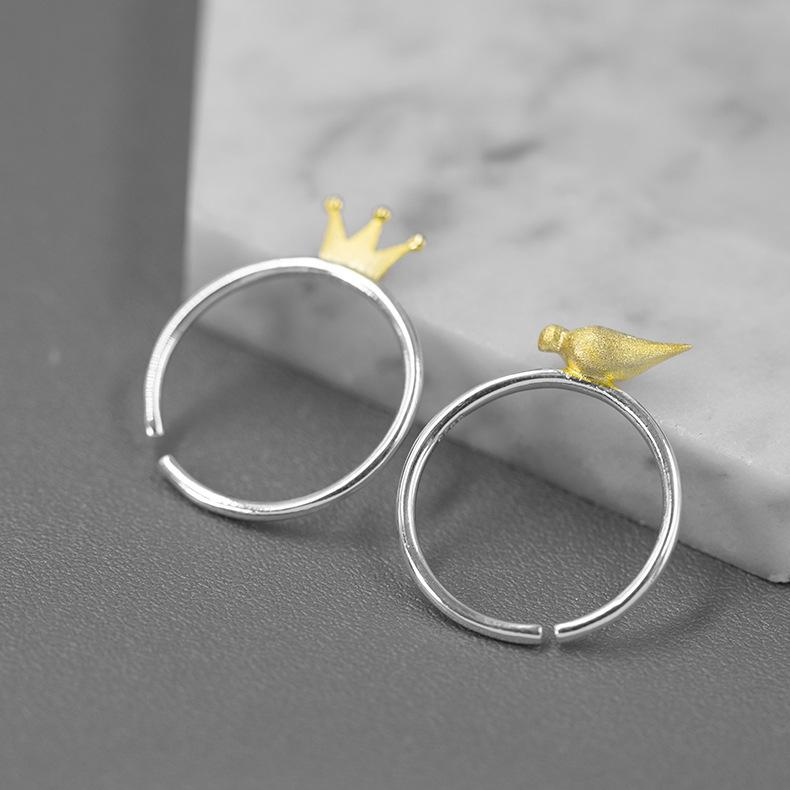 Prince of Fairy Tale Double Silver Rings