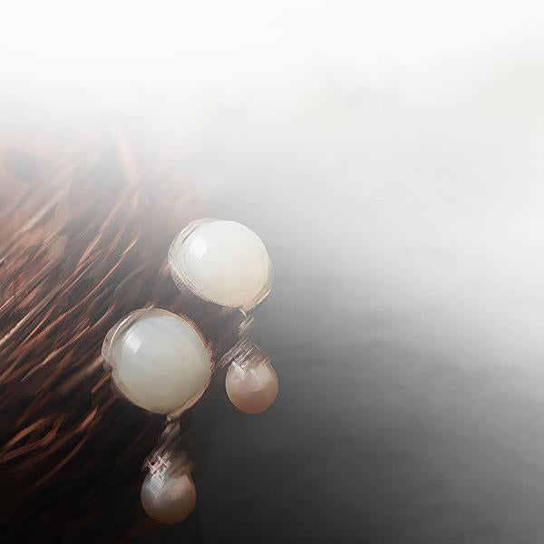 Pure White Jade Earrings