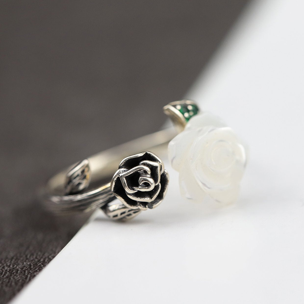 Delicate Rose Open Ring